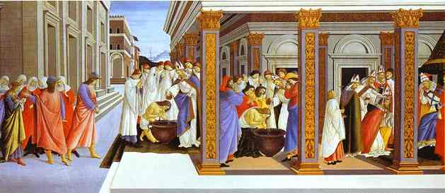 Alessandro Botticelli - Baptism of St. Zenobius and his Appointment as Bishop