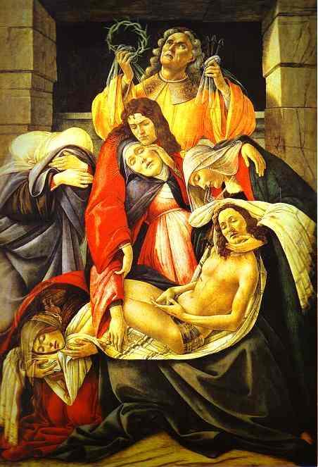 Alessandro Botticelli - Lamentation over the Dead Christ