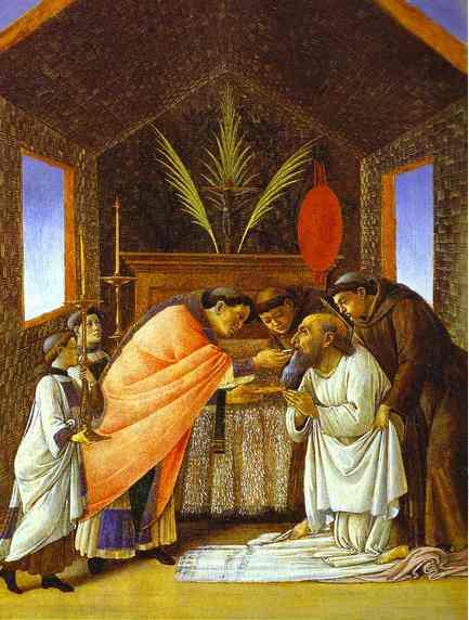 Alessandro Botticelli - Last Communion of St. Jerome