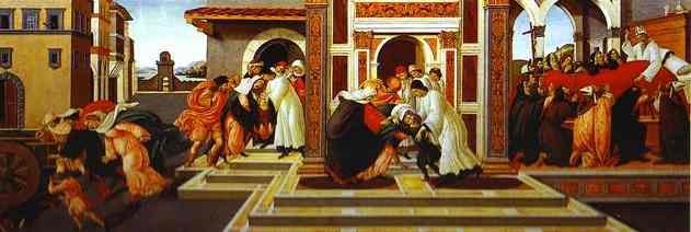 Alessandro Botticelli - Last Miracle and the Death of St. Zenobius