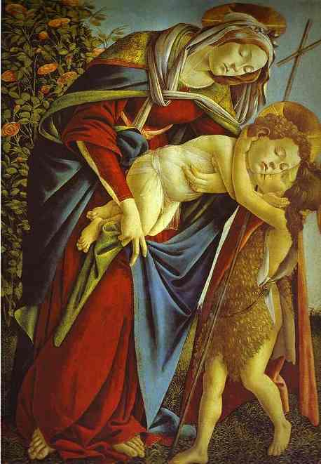 Alessandro Botticelli - Madonna and Child and the young St. John the Baptist