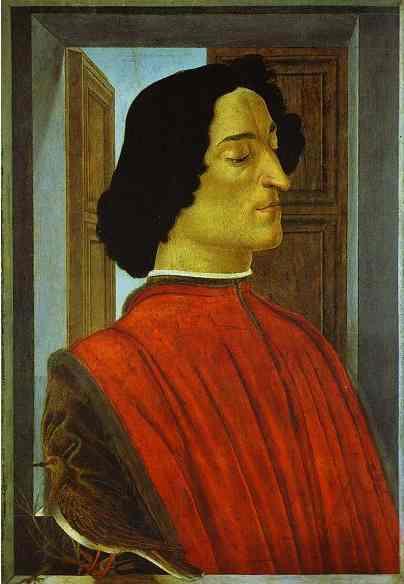 Alessandro Botticelli - Portrait of Giuliano de' Medici