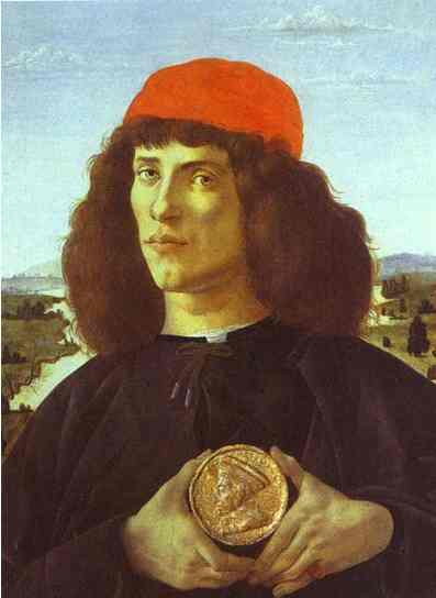 Alessandro Botticelli - Portrait of a Man with the Medal of Cosmo the Elder
