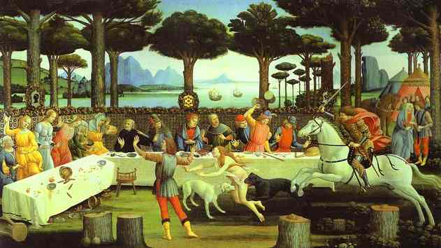 Alessandro Botticelli - The Banquet in the Pine Forest