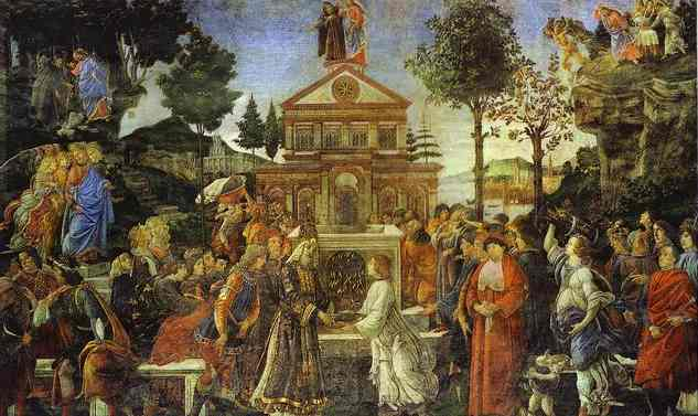 Alessandro Botticelli - The Temptation of Christ