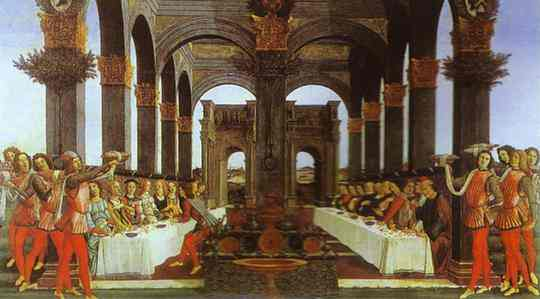 Alessandro Botticelli - The Wedding Banquet
