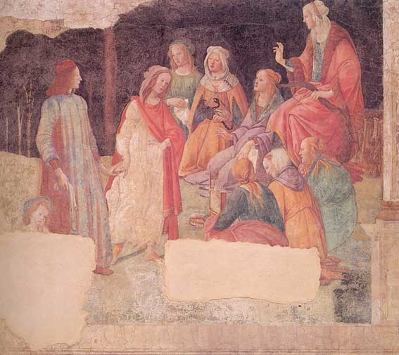 Botticelli-A Young Man is Greeted by the Liberal