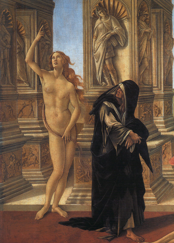 Calumny, detail of Truth and Remorse