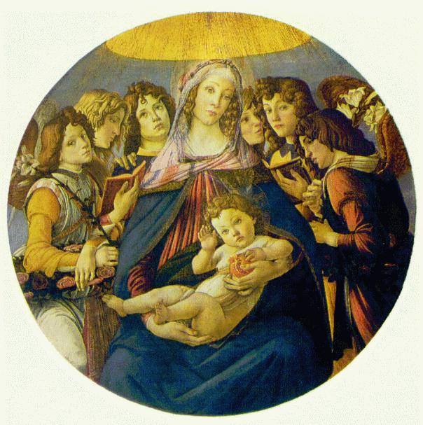 Madonna of the Pomegranate (Madonna and Child and six Angels