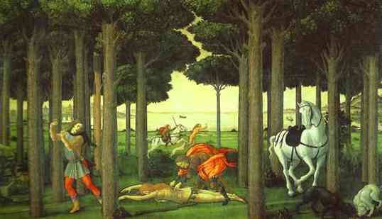 botticelli-The Infernal Hunt. 1482-1483