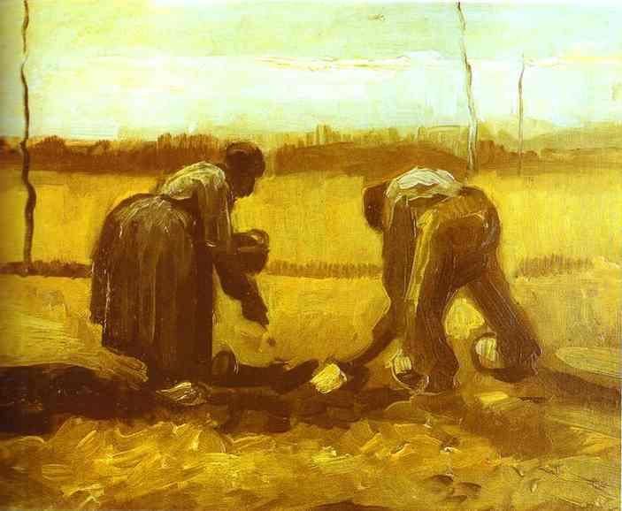 1885 Fermiers plantant des pommes de terre