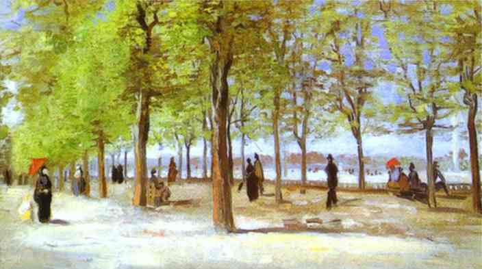 1886 Dans le jardin du Luxembourg