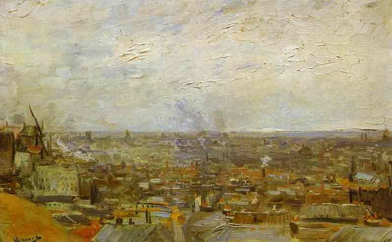 1886 Vue sur Paris de Montmartre