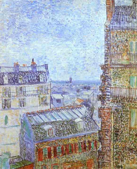 1887 Paris vu de la chambre de Vincent rue Lepic