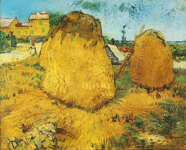 1888 Bottes de paille en Provence