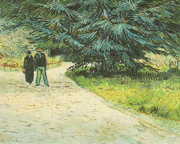 1888 Couple dans un jardin public