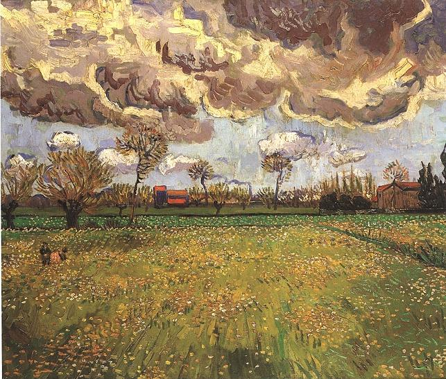 1888 Paysage sous un ciel orageux