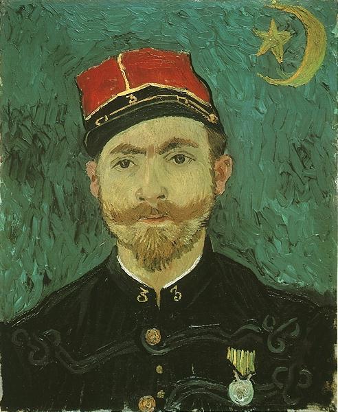 1888 Portrait de Milliet, second lieutenant des zouaves