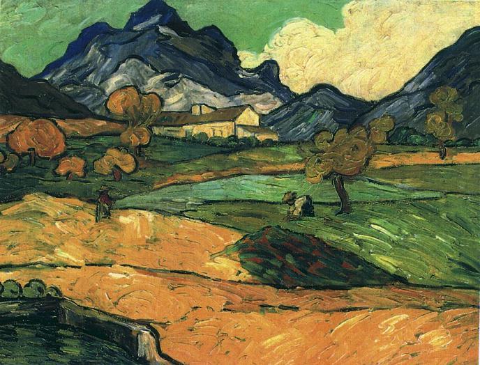 1889 Le mont Gaussier avec le mas de Saint-Paul
