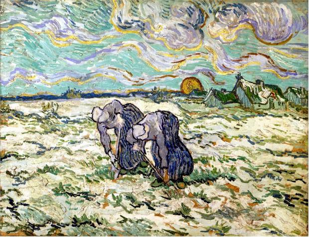1890 Deux paysannes binant