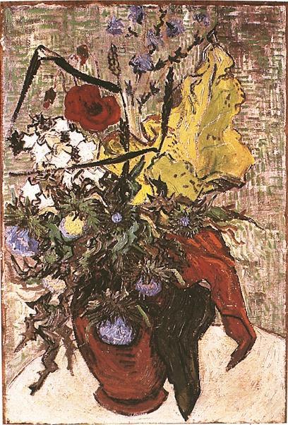 1890 Fleurs des champs dans un vase