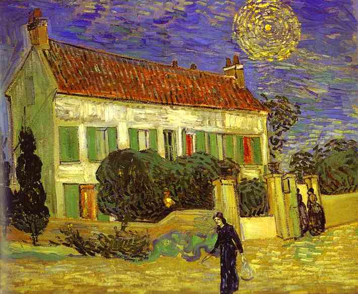 1890 La maison blanche la nuit