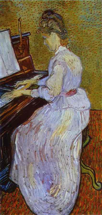 1890 Mademoiselle Gachet au piano