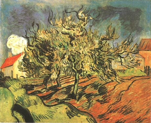 1890 Paysage avec trois arbres