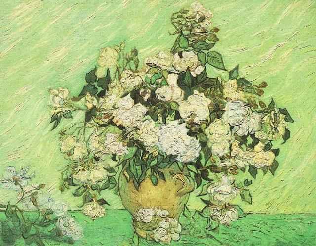 1890 Vase avec des roses