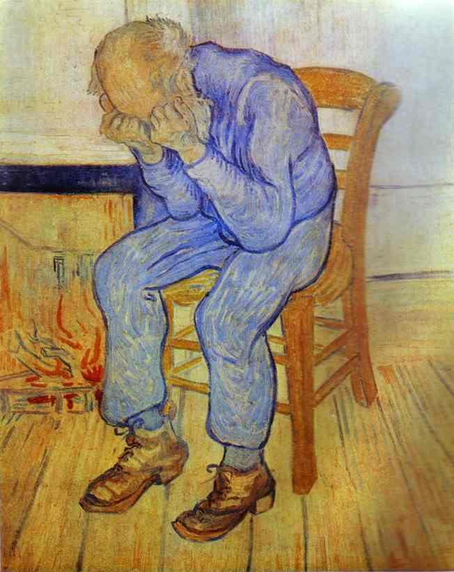 1890 Vieil homme en pleurs