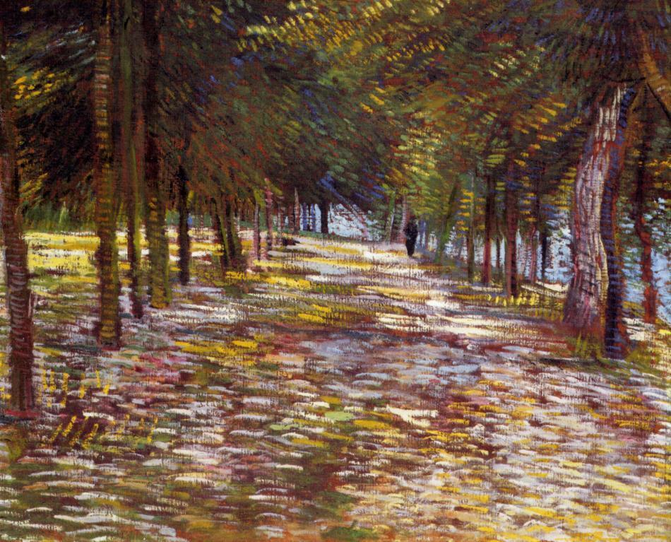 Avenue in the Voyer-d'Argenson Park at Asnieres