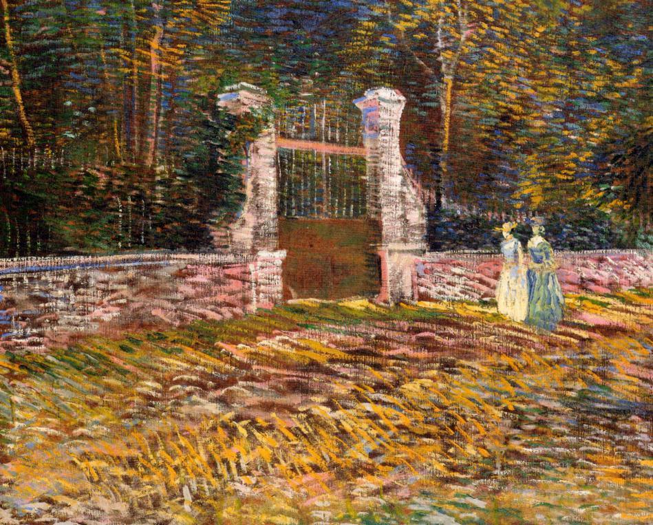 Entrance of Voyer-d'Argenson Park at Asnieres