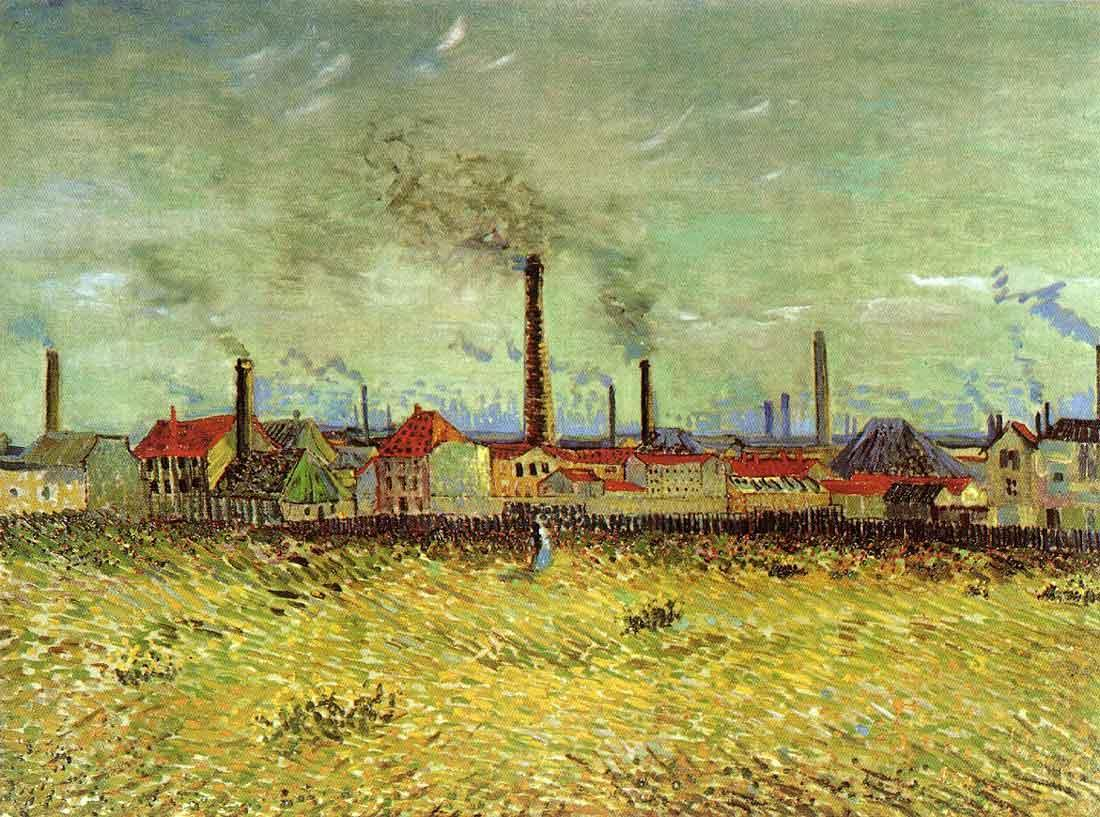 Factories at Asnieres Seen from the Quay de Clichy