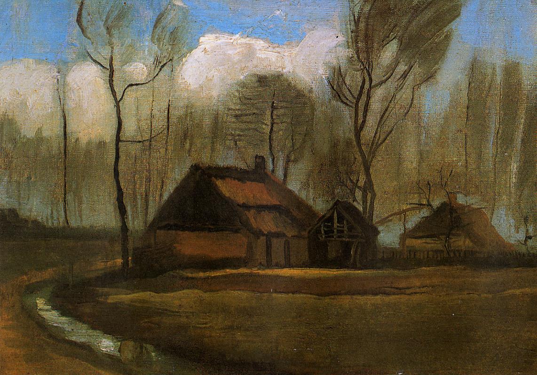 Farmhouses among Trees