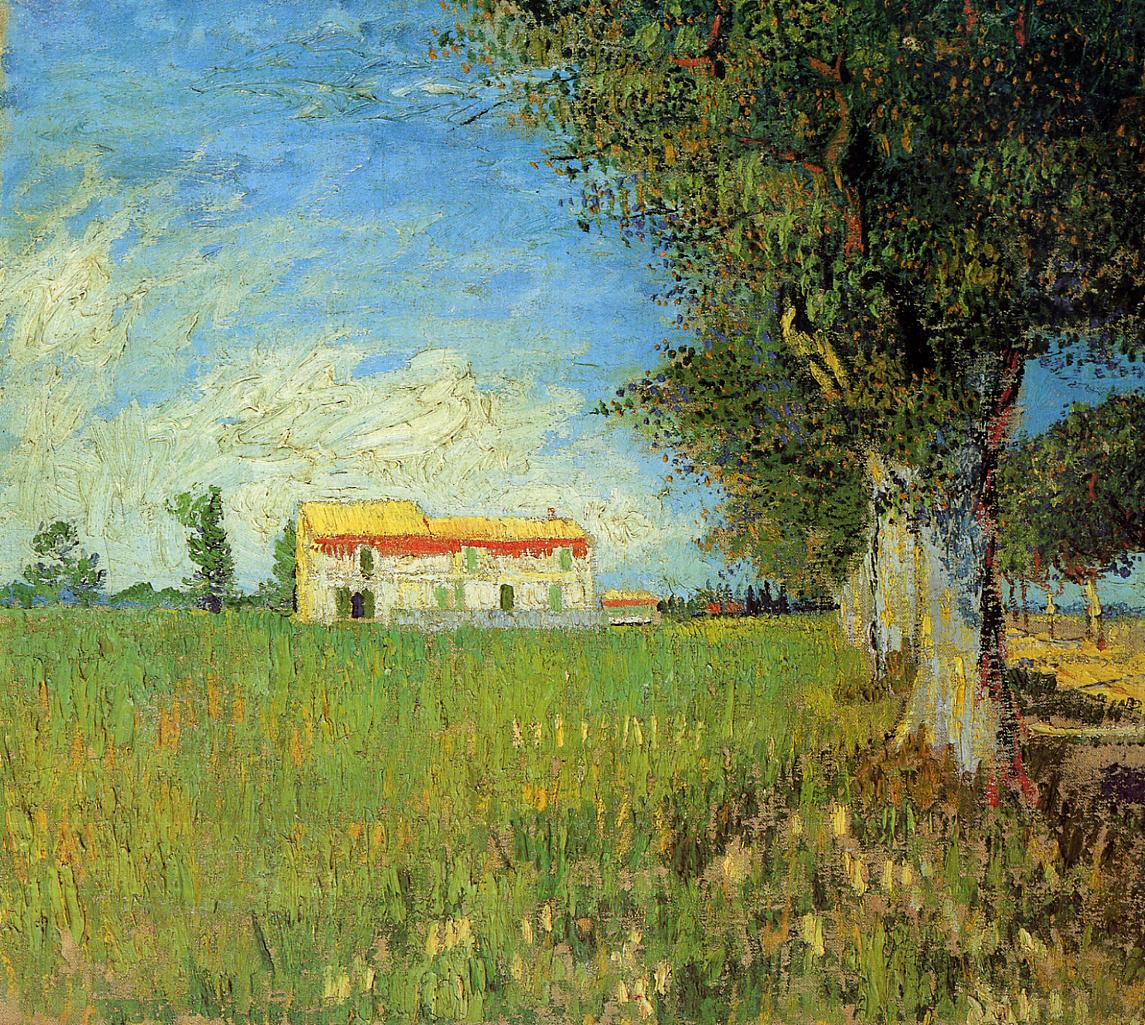 Farmhouses in a Wheat Field