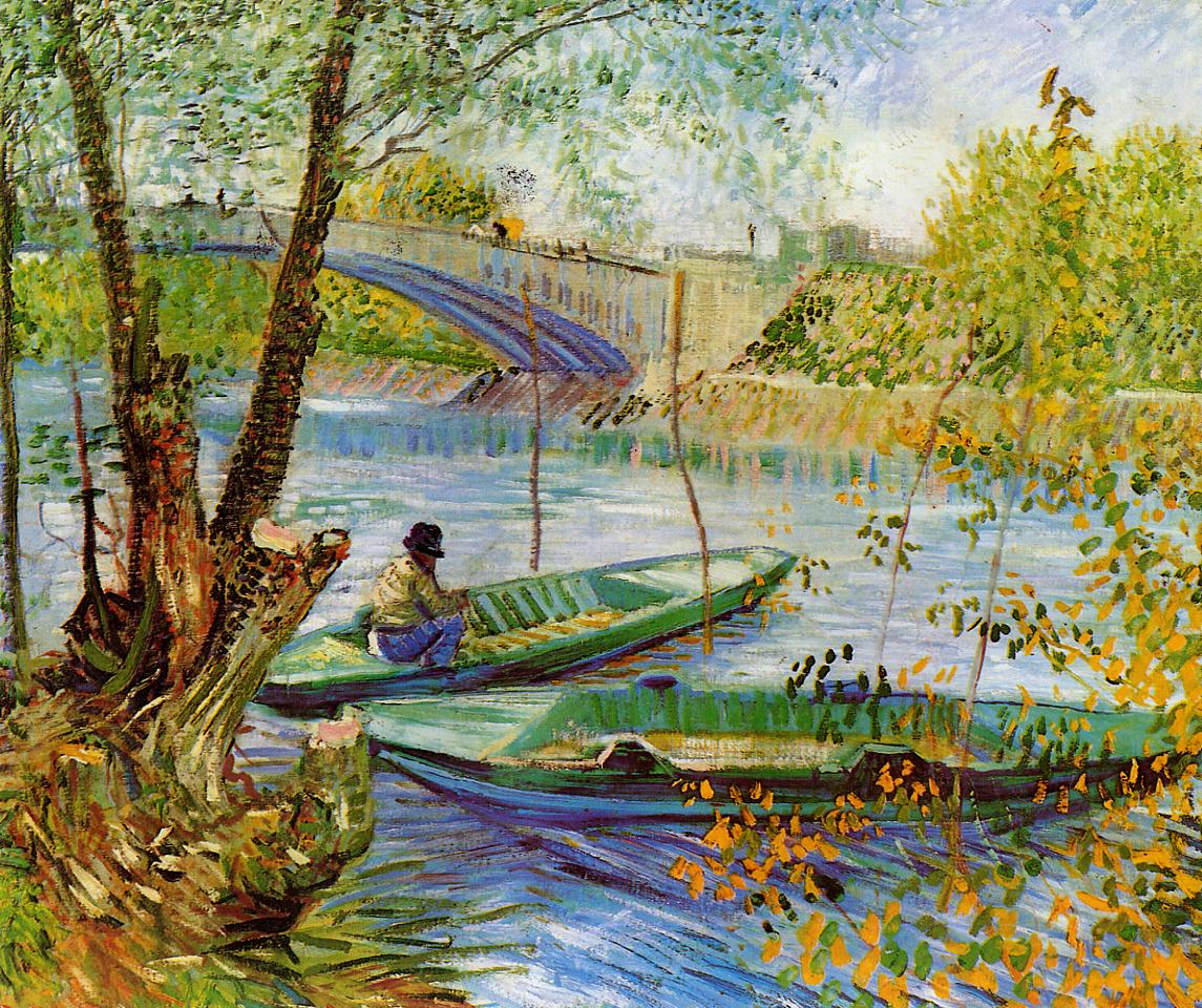Fishing in the Spring - Pont de Clichy