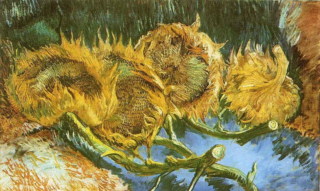 Four Cut Sunflowers