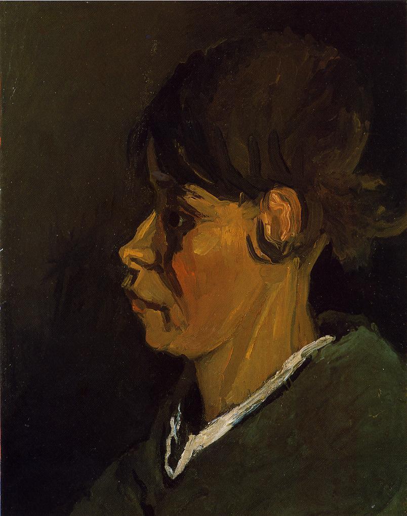 Head of a Peasant Woman, Left Profile