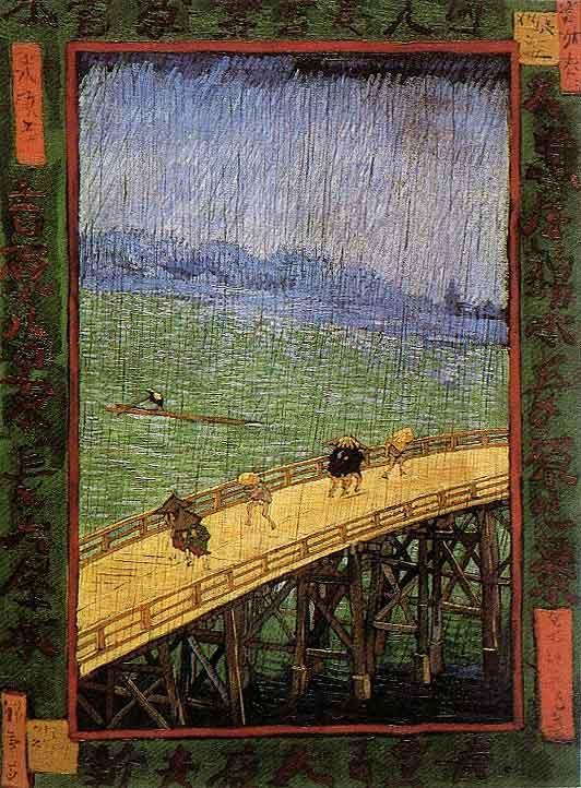 Japonaiserie - Bridge in the Rain