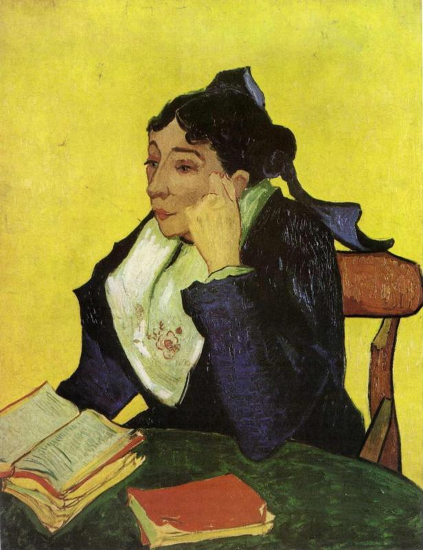 L'Arlesien - Madame Ginoux with Books