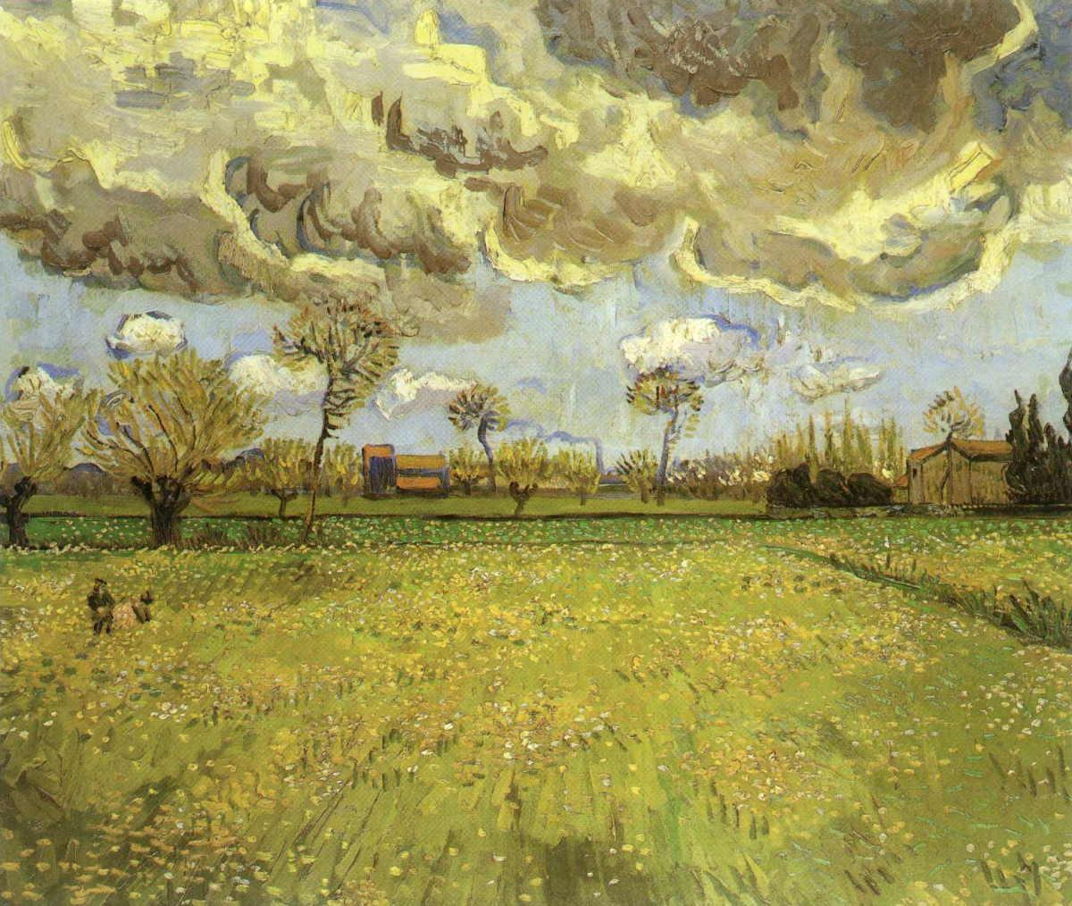Landscape under Stormy Skies