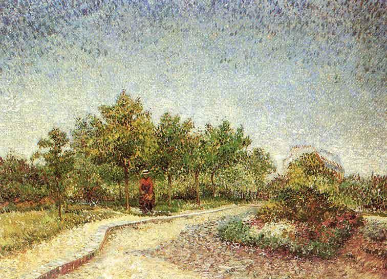 Lane in Voyer d'Argenson Park at Asnieres