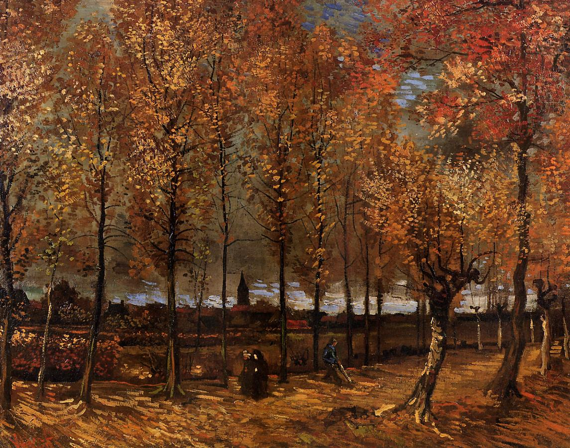 Lane with Poplars