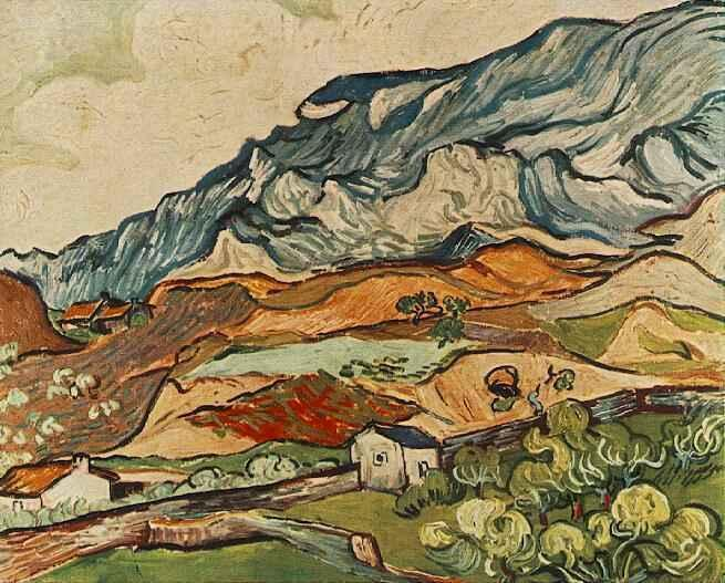 Les Alpilles, Mountainous Landscape near Saint-Remy