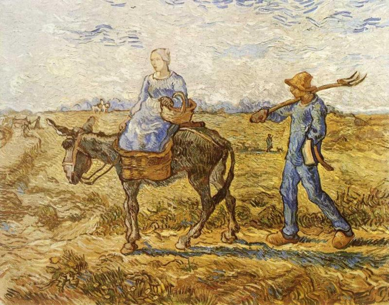 Morning - Peasant Couple Going to Work