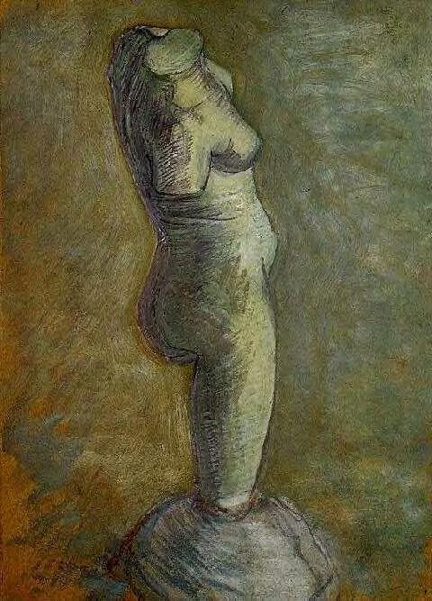 Plaster Statuette of a Female Torso 2