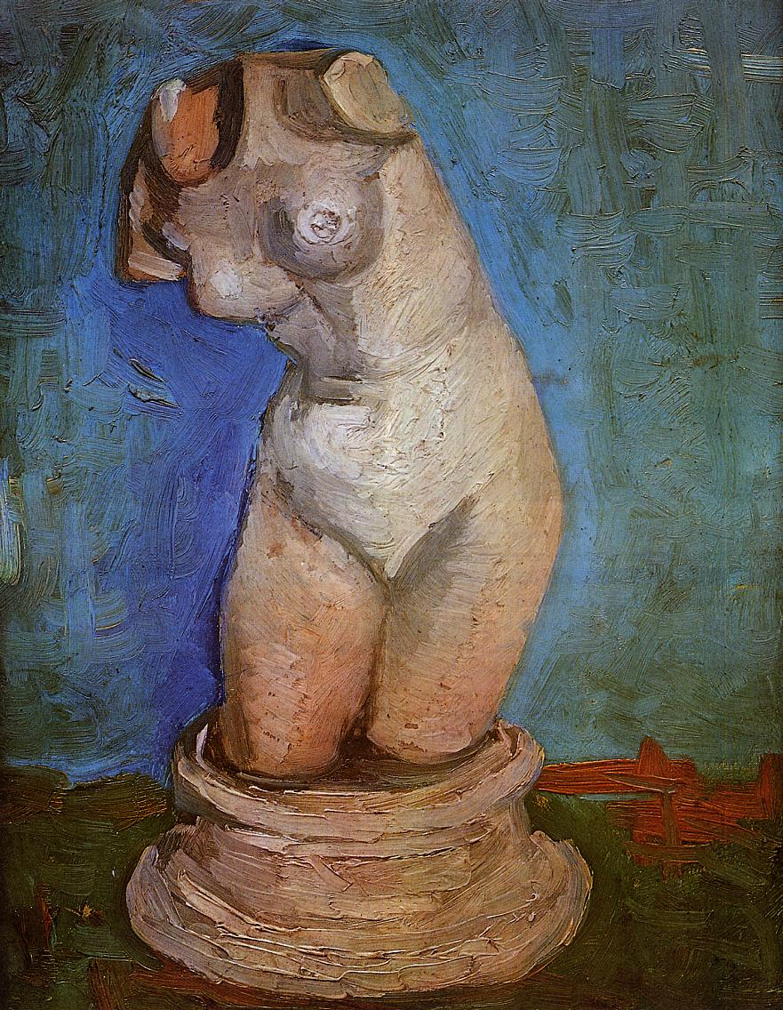 Plaster Statuette of a Female Torso 3