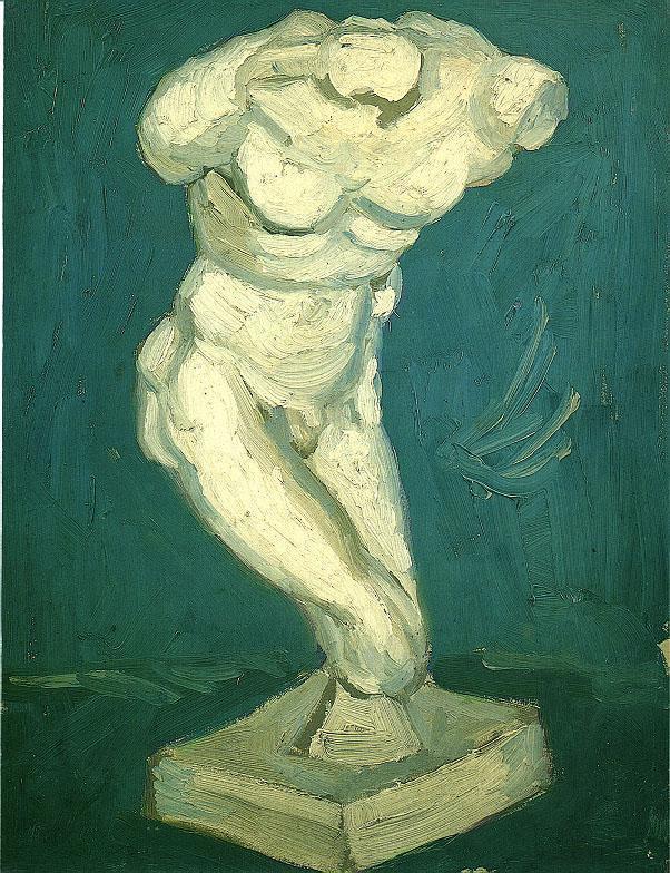 Plaster Statuette of a Male Torso