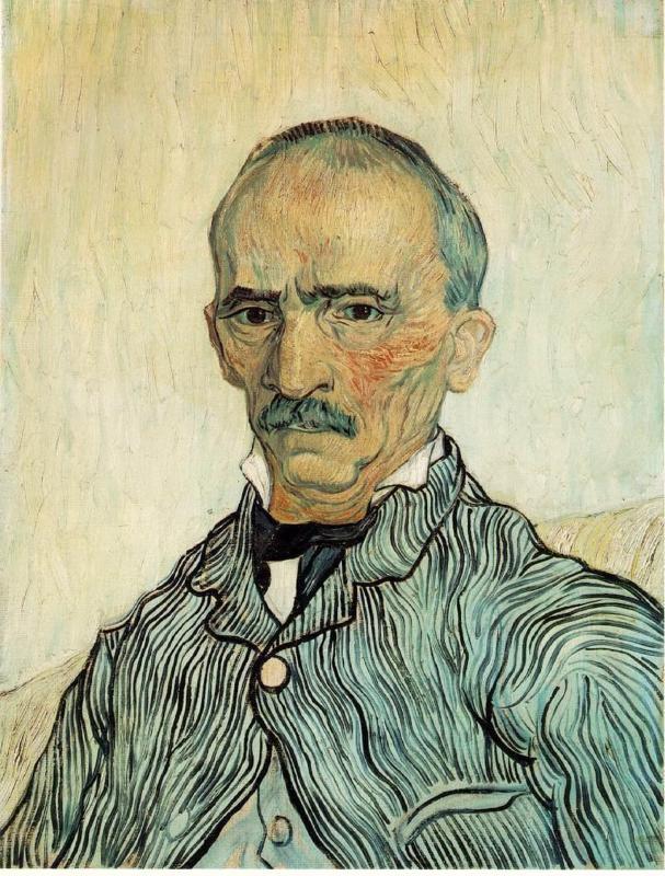 Portrait of Trabuc, an Attendant at Saint-Paul Hospital