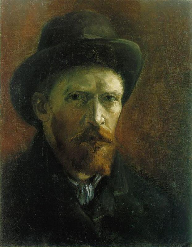 Self Portrait with Dark Felt Hat